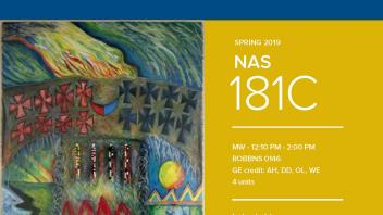 Spring 2019 UC Davis University Honors Program Course: NAS 181C