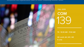 Fall 2019 UC Davis University Honors Program Course: COM 139