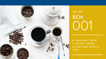 Fall 2019 UC Davis University Honors Program Course: ECH 1