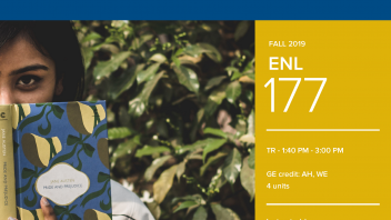 Fall 2019 UC Davis University Honors Program Course: ENL 177