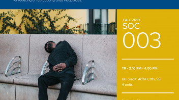 Fall 2019 UC Davis University Honors Program Course: SOC 3
