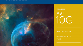 Fall 2019 UC Davis University Honors Program Course: AST 10G