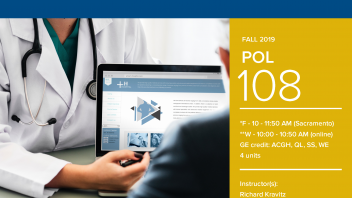 Fall 2019 UC Davis University Honors Program Course: POL 108