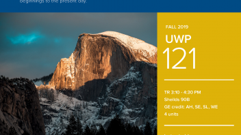 Fall 2019 UC Davis University Honors Program Course: UWP 121