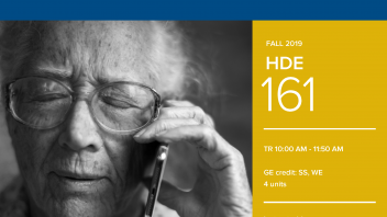 Fall 2019 UC Davis University Honors Program Course: HDE 161