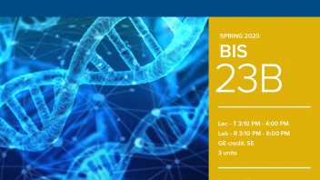 Spring 2020 University Honors Program Course: BIS 23B