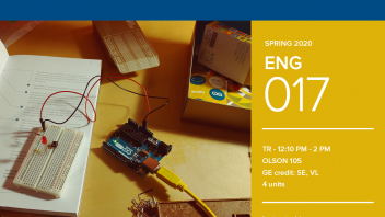Spring 2020 University Honors Program Course: ENG 17