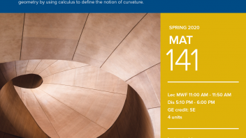 Spring 2020 University Honors Program Course: MAT 141