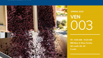 Spring 2020 University Honors Program Course: VEN 3