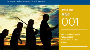 Spring 2020 University Honors Program Course: ANT 1