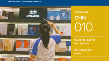 Spring 2020 University Honors Program Course: CHN 10