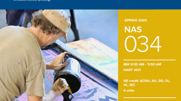 Spring 2020 University Honors Program Course: NAS 34