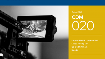 Fall 2020 University Honors Program Course: CDM 20