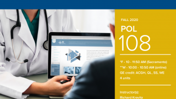 Fall 2020 University Honors Program Course: POL 108