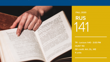 Fall 2020 University Honors Program Course: RUS 141