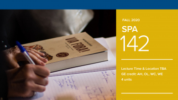 Fall 2020 University Honors Program Course: SPA 142