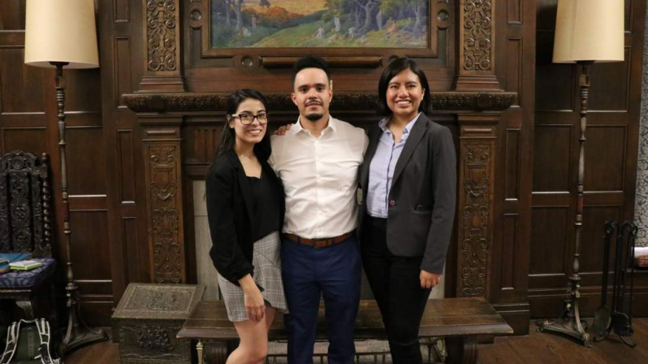 Ivan Rocha (middle) attended the 2019 APRU conference at the University of Oregon.