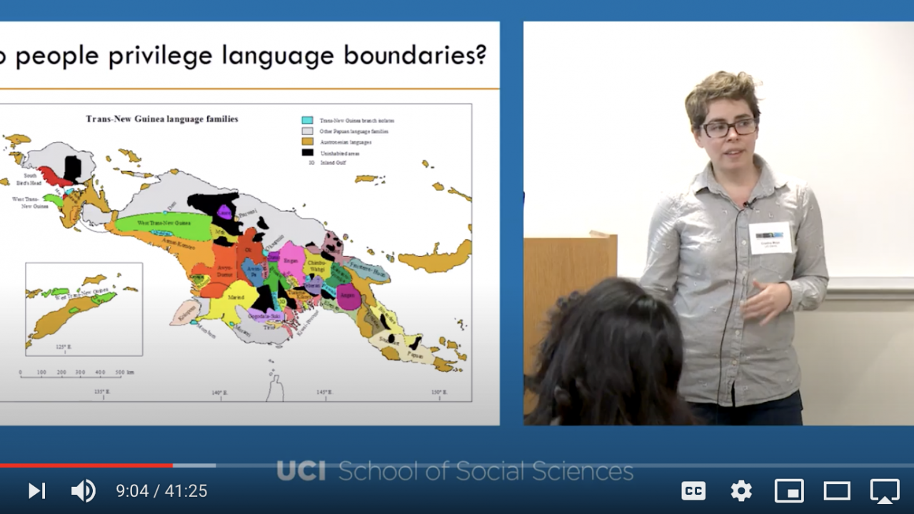 Dr. Cristina Moya lectures on the evolution of language