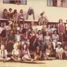 Integrated Studies students in front of B Building, 1974-75 (photo by David Leonard).