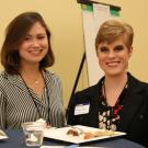 Alumni speaker, Julianne Cravotto (left), with honors staff and alum, Shelbie Condie (right).
